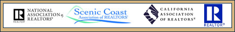 National Association of Realtors, Scenic Coast Association of Realtors, California Association of Realtors, Realtor